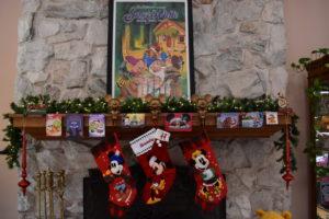 Disney Christmas Mantel